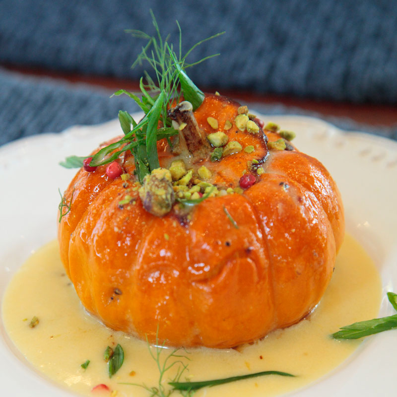 Roasted Whole Baby Pumpkin